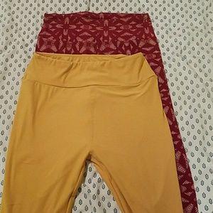 Lularoe comfy legging bundle never worn